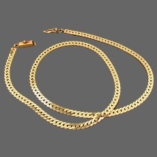 17.1 Grams, Italian 14K Herringbone Necklace 17""