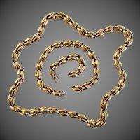 64.6 Grams, 18K YG Chimento Set with Necklace, Bracelet & Extender