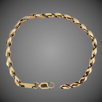 "8.8 Grams, 14K YG Fancy Link Bracelet, 7 1/2"" Closed"