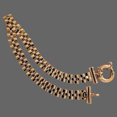 8.9 Grams, 14K YG Italian Panther Link Bracelet