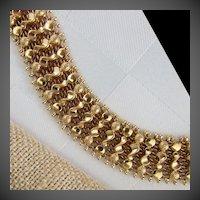 "28.2 Grams, Italian 18K YG Bracelet Size 7 1/8"""