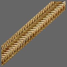 """24.5 Grams, 14K YG Italian Omega Bracelet 8 1/4"""""""
