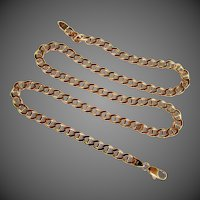 "31.7 Grams, 14K YG Italian Gucci Link Necklace 21 3/4"" Long"