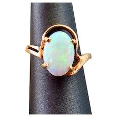 14K YG Australian Opal Ring Size 6