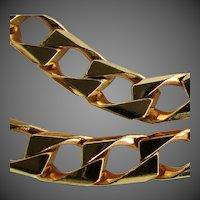 "21.9 Grams, 14K YG Square Cuban Link Bracelet, 8 1/2"""