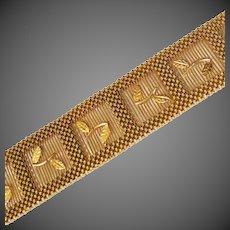 """63.4 Grams, 18K YG Bracelet 7 1/8"""" Closed, Over 1"""" Wide"""