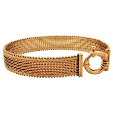 27.8 Grams, 14K YG Imperial Gold Bracelet Size 8