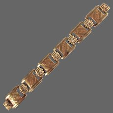 "19.6 Grams, 18K YG Austrian Gold Bracelet 7 3/8"" Closed"