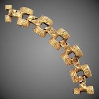 "8.4 Grams 14K YG Fancy Link Bracelet 7 1/4"" Closed"