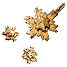 6.9 Grams, O.C. Tanner 14K Winter Olympics Set with Earrings & Pendant