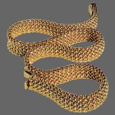 64.8 Grams, 14K YG Italian Woven Necklace