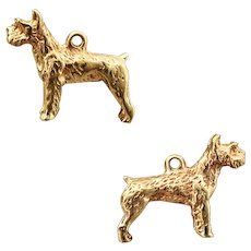 4.5 Grams, 14K YG Wirehaired Pointing Griffon Dog Charm