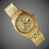 18K YG,  Extremely RaRe & LIMITED: 1965 President  DAY-DATE ROLEX  Limited Model 1806