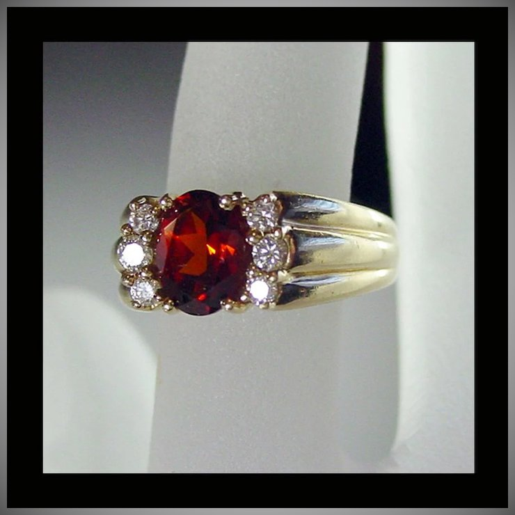 citrine elegant and diamond cocktail dress ring