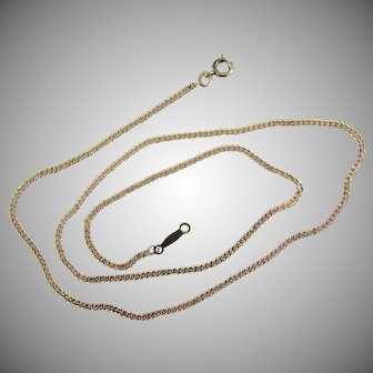 """14K YG Curb or Cuban Link Chain Necklace 19"""""""