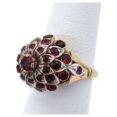 14K WG & YG Ruby Princess Ring Size 5 - 5 1/4