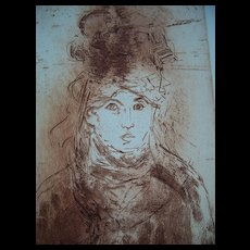 HOMAGE TO MANET   Jack Coughlin  signed  original etching