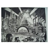 Ralph Fabri , National Academy Artist, Original etching