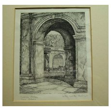 Willie Lucille Reed Rowe, New Orleans art ,Cabildo Arches