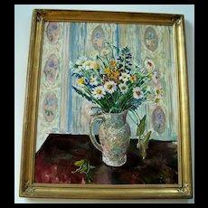 Mortimer Borne , Oil Painting, Floral