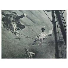 """""""Clown Acrobats""""   Robert Riggs  Listed artist"""