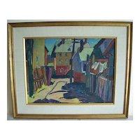 "Gloucester Impressionist  painting  ""Louise L Emerson""   RI  artist"