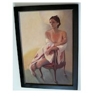 """Nude In A Chair"" 20th C  American school"