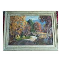 Mary L Keefe  Impressionist oil   Down the Road