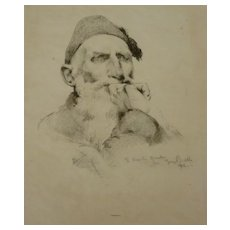 George Biddle  signed  Original  lithograph