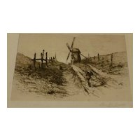 Charles F Mielatz  listed  Original drypoint