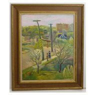 Washington Height's   Mortimer Borne   Original oil