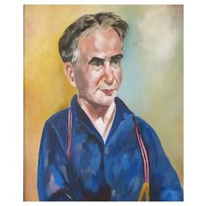 Portrait of artist Mortimer Borne   Oil Painting