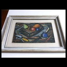 Modernist Still Life  1940 s  Oil Painting