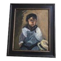 Lucie Bayard oil portrait