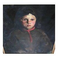 Lucie Bayard , oil portrait