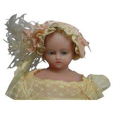 Antique - PIEROTTI - English Wax Lady Doll  -11.5 1860 -RARE!