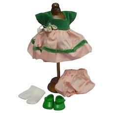 Vogue Ginny 1954-56 Pink Green Taffeta Outfit