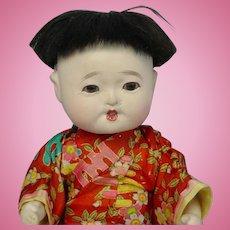 """Vintage ICHIMATSU Japanese Gofun Play Doll Precious 10"""""""