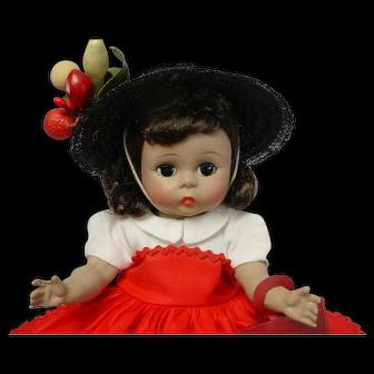 Madame Alexander-kins  Strung Brunette Doll Kins Tagged Outfit DARLING