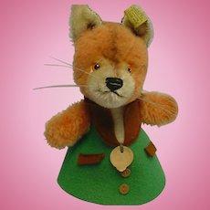 German Steiff Nightcap Fox All ID's 1969-74 CUTIE