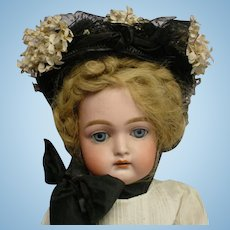 Antique Velvet Satin Net HAT for your German or French Doll BEAUTIFUL