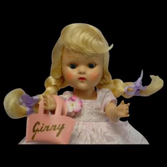 Vogue Ginny PLW Blonde Braid 1954 Doll DELIGHTFUL