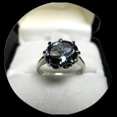 14k Ring - TANZANITE - Top Quality & Color, 2.52CT  Natural Earth Gem - White Gold