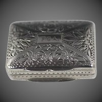 English Silver Vinaigrette by William Phillips Birmingham 1832-1833