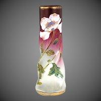 Exquisite Late 19th Century Mont Joye Vase From Legras Glassworks, France