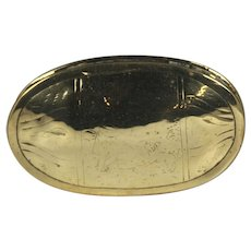 Late 18th Century English Brass Tobacco Tin With Mourning Motif