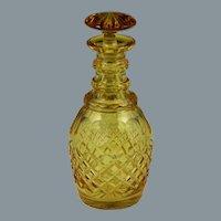 Fine English 19th Century Blown & Cut Amber Glass Spirit Decanter