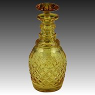 Fine English 19th Century Blown & Cut Amber Glass Spirit Decanter