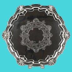 Wonderful Late 19th Century English Silverplate Salver