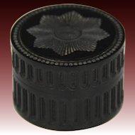 Fine Circa 1840 Engine Turned & Carved Lignum-Vitae Table Snuff